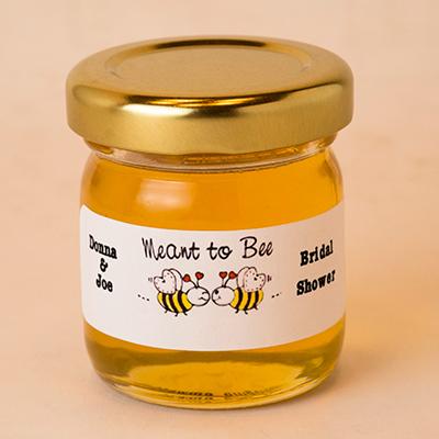 Round Mini Honey Jar Favor