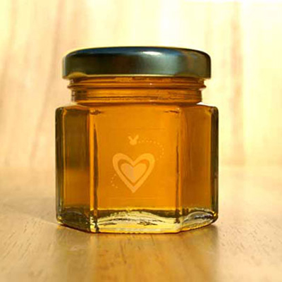 2oz natural honey jar wedding favor
