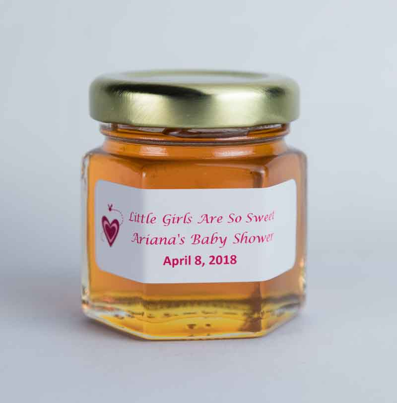 Small Baby Shower Honey Jar Favor