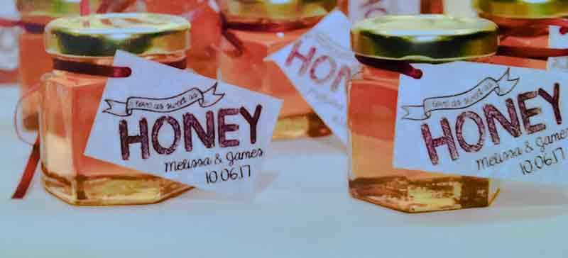 2oz Honey Wedding Favor Photo idea