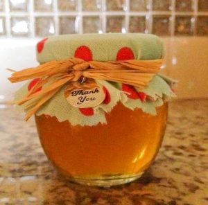 4oz. Honey Pot with Fabric covered lid