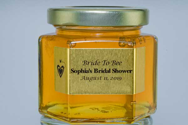 Unique Bride to Bee 6oz. Honey Favor