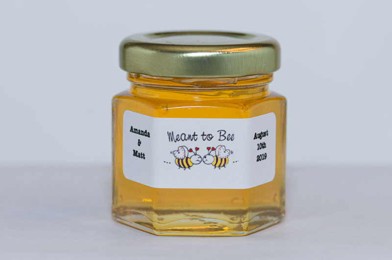 Unique 2oz. Meant to Bee Honey Jar Favor