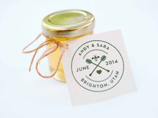 2oz. Honey Jar with custom Tag