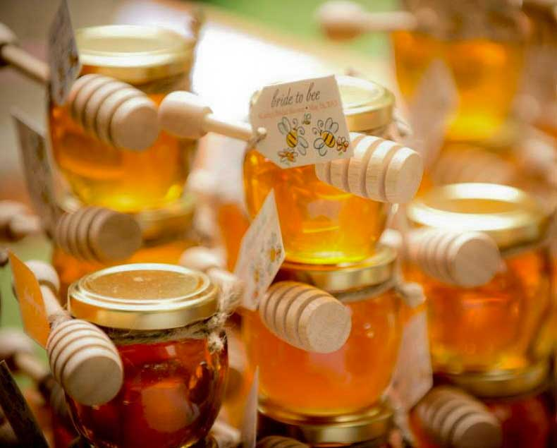 4oz Honey Pot Wedding Jar Favor