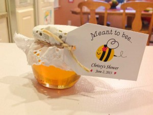 Bridal Shower 4 oz Honey Pot Favor