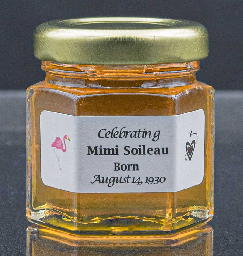 a Unique 2oz. Honey Jar Birthday Favor