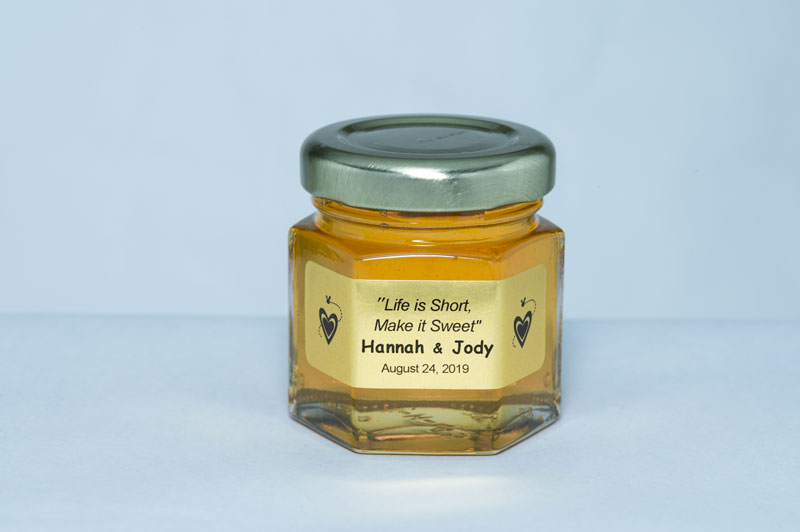 Unique 2oz. Honey Jar Wedding Favor