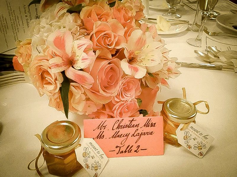 Honey Favors on table
