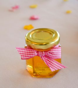 Honey Wedding Favor with bow