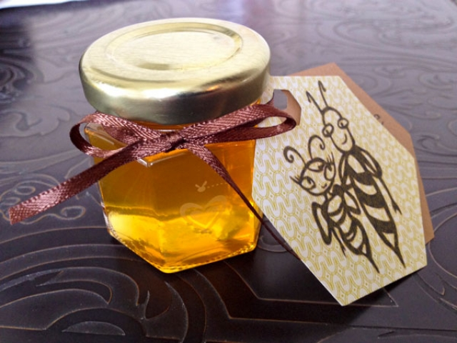 Two Tags  Homemade DIY Honey Jar Wedding Favor Idea