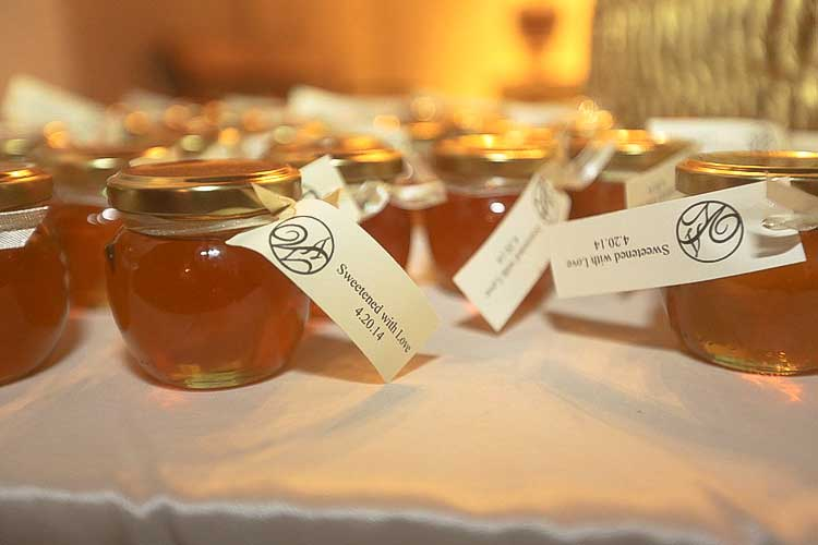 Long rectangle tag Homemade DIY Honey Jar Wedding Favor Idea