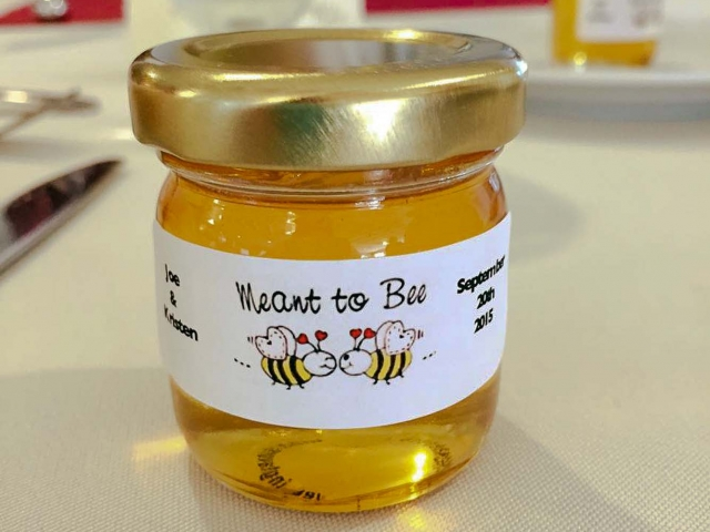 Meant to Bee Round Honey Jar Party Favor
