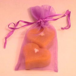 beeswax floating hearts Organza Bag Favor