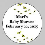 Baby Shower Round Label #13
