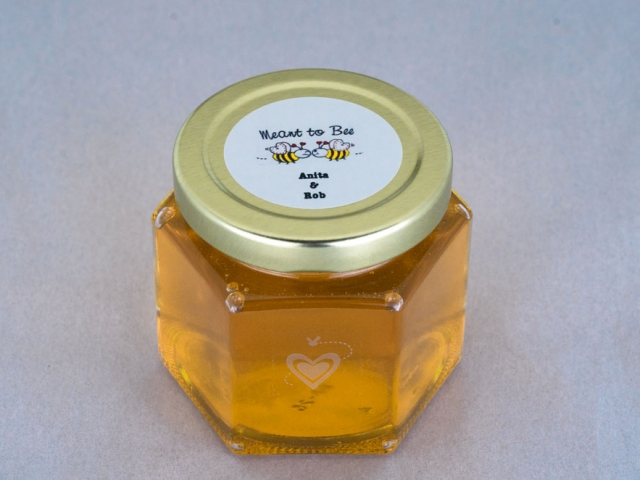 Meant to Bee with 2 Bees Honey Jar Party Favor