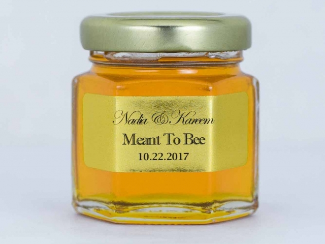 Meant to Bee Honey Jar Party Favor