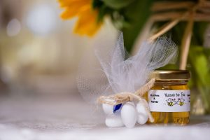 Katrinas Real Wedding Favors Story Round Honey Favor
