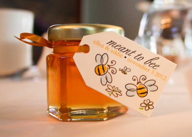E Gifts For Wedding : 2oz Natural Honey Jar Wedding Favor- your guests will enjoy!