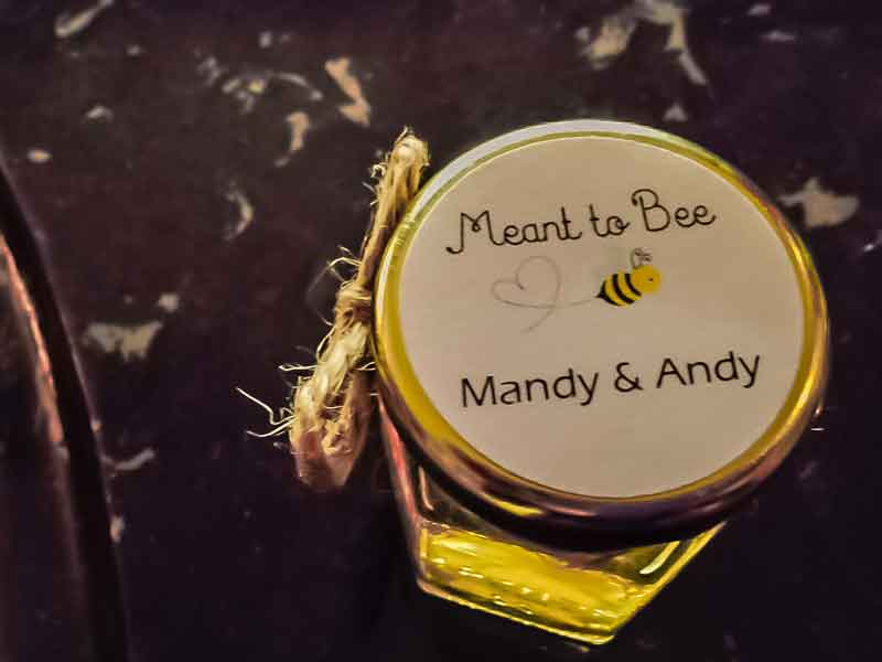 Custom meant to bee round lid label Homemade DIY Honey Jar Wedding Favor Idea