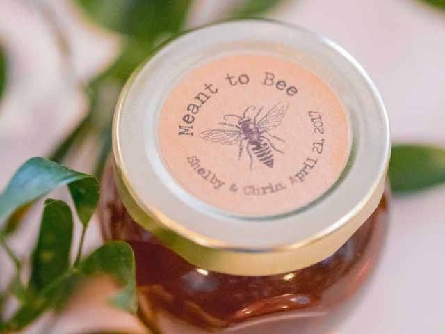 custom large round lid label Homemade DIY Honey Jar Wedding Favor Idea
