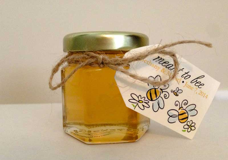 2oz Honey Favor With Meant To Bee Tag
