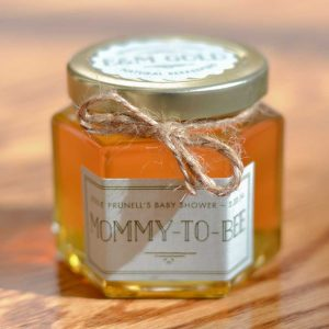 Mommy to Bee 6oz Honey Hex Jar