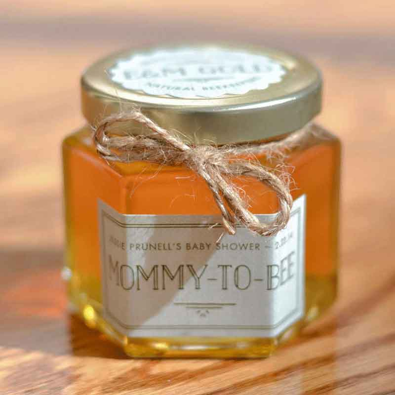 Scalloped round lid label Homemade DIY Honey Jar Wedding Favor Idea