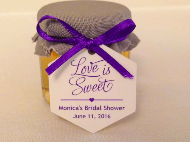 a love is sweet tag honey wedding favors diy idea