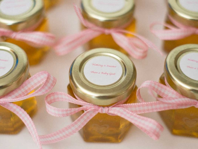 Baby Girl Baby Shower Honey Jar Party Favors