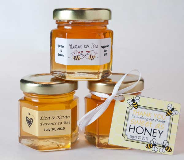 2oz Natural Honey Jar Wedding Favor- your guests will enjoy!