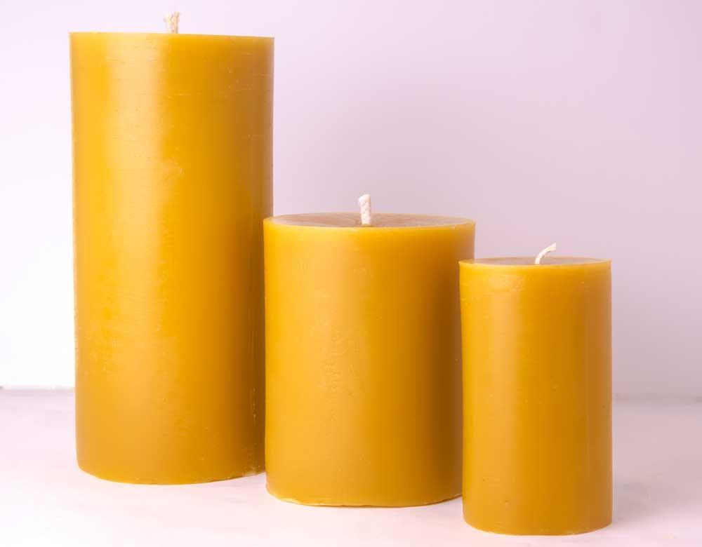 Beeswax Pillar Wedding Candle E M Wedding Favors