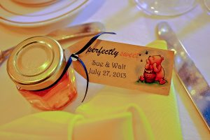 Pooh Themed Honey Wedding Favor