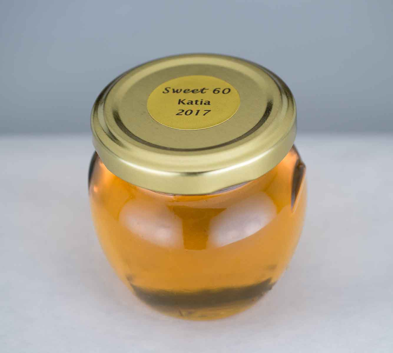 custom round lid label Homemade DIY Honey Jar Wedding Favor Idea