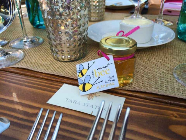 Sweet as Can bee tag  Homemade DIY Honey Jar Wedding Favor Idea