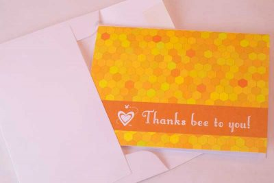 Thanks Bee to You note cards