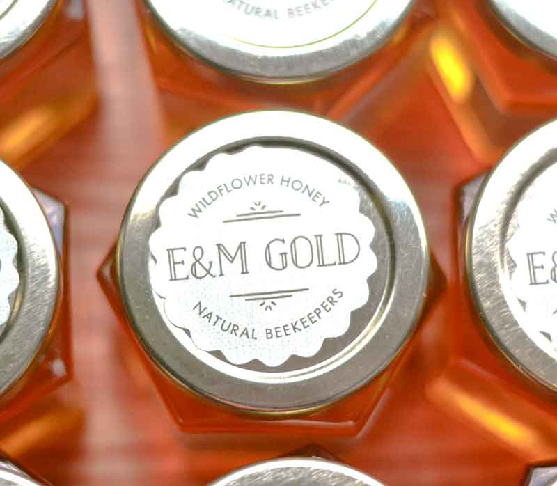 Round lid label Homemade DIY Honey Jar Wedding Favor Idea