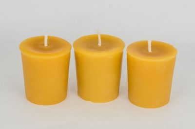 Beeswax Votive Wedding Candles