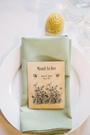 Beeswax Wedding Favor Photo Idea