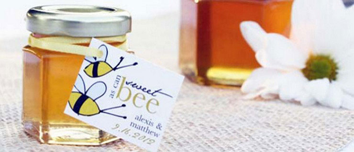 Sweet as can Bee Unique Honey Jar Favors