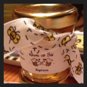 Meant to Bee Baptism favor