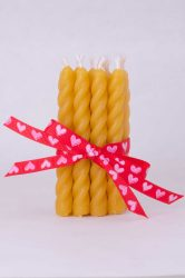 beeswax mini spiral wedding candles