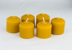 Beeswax Mini Votive Wedding Candles